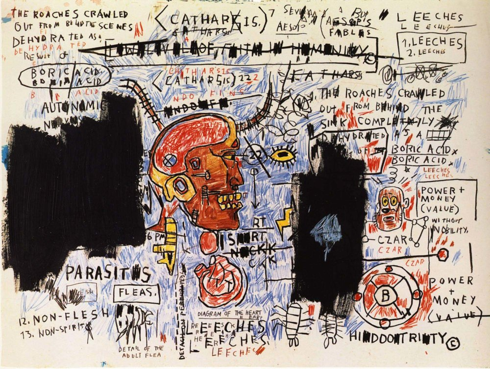 Leeches, 1983,Jean-Michel Basquiat