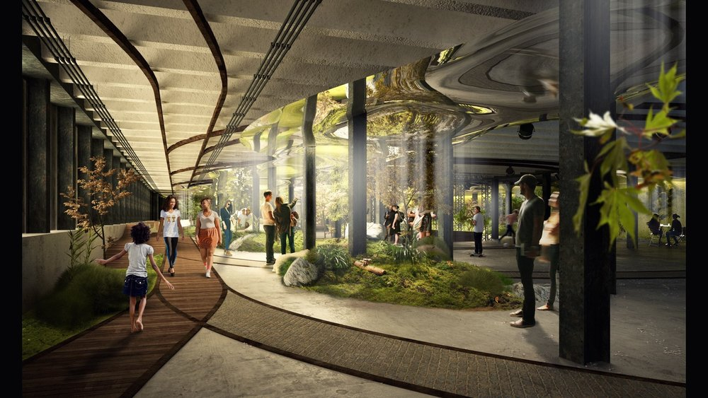 Lowline park early design concept image via  thelowline.org