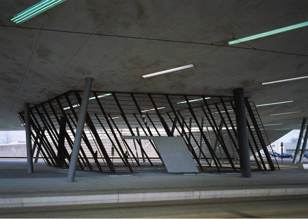 Hoenheim-Nord Terminus and Car Park by Zaha Hadid Architects Photograph by Roland Halbe