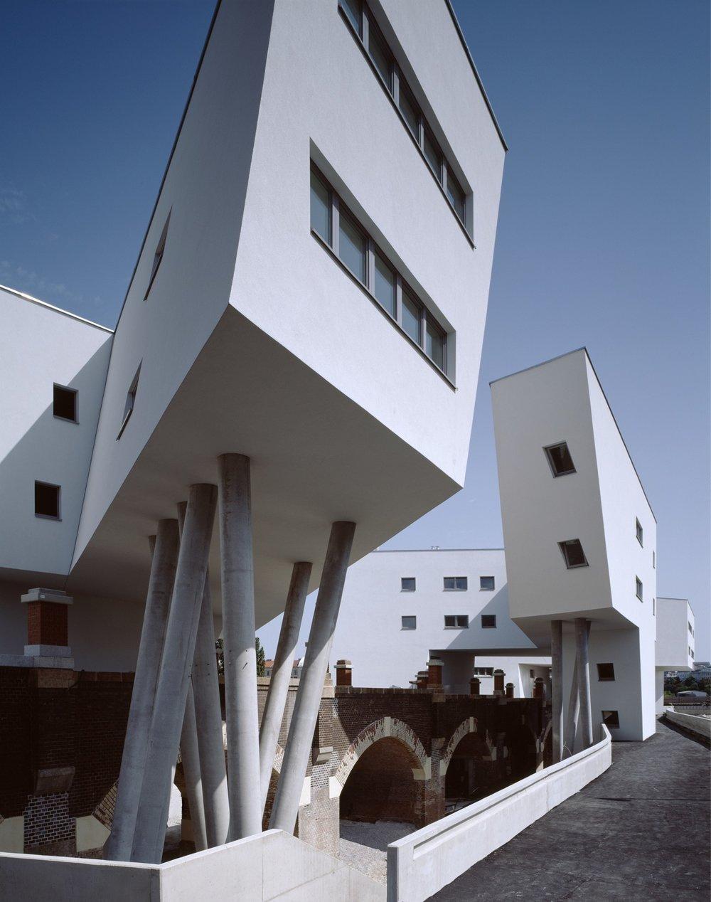 Spittelau Viaducts Housing by Zaha Hadid Architects Photograph Bruno Klomfar