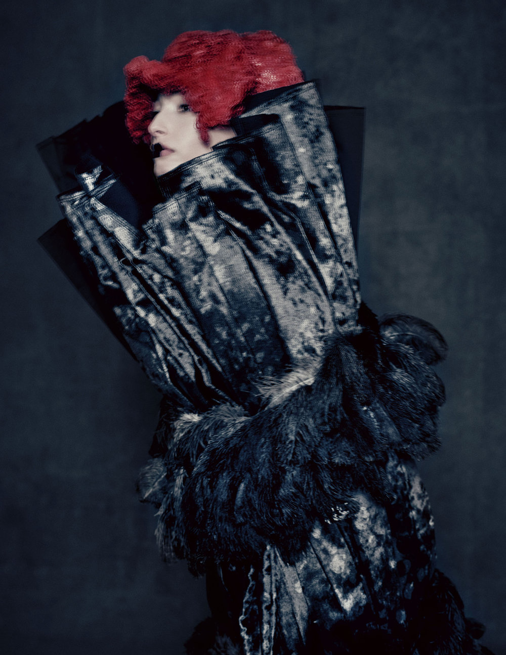 Blue Witch, spring/summer 2016; Courtesy of Comme des Garçons.  Photograph by © Paolo Roversi; Courtesy of The Metropolitan Museum of Art