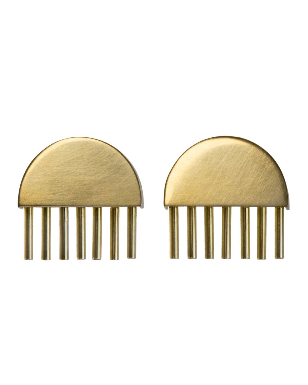 Erie Basin -  Gold Moon  Earrings
