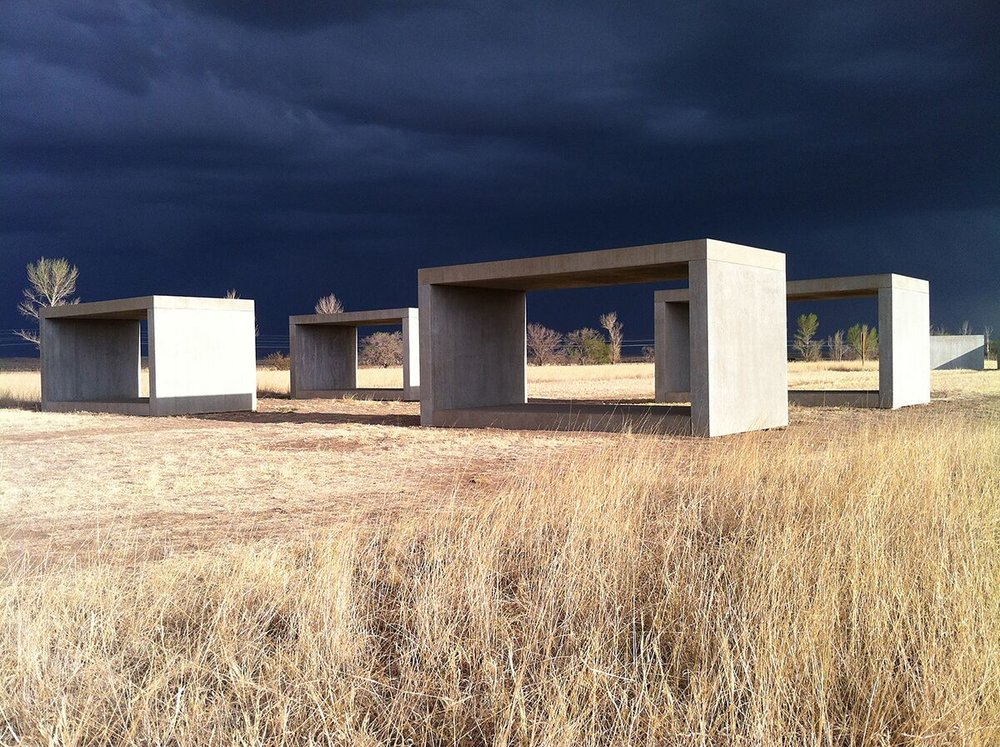 Donald Judd, 15 untitled works in concrete, 1980-1984. Permanent collection, the Chinati Foundation, Marfa, Texas. Photo by Frank Benson, courtesy of the Chinati Foundation. Donald Judd Art © 2017 Judd Foundation / Artists' Rights Society (ARS), New York.