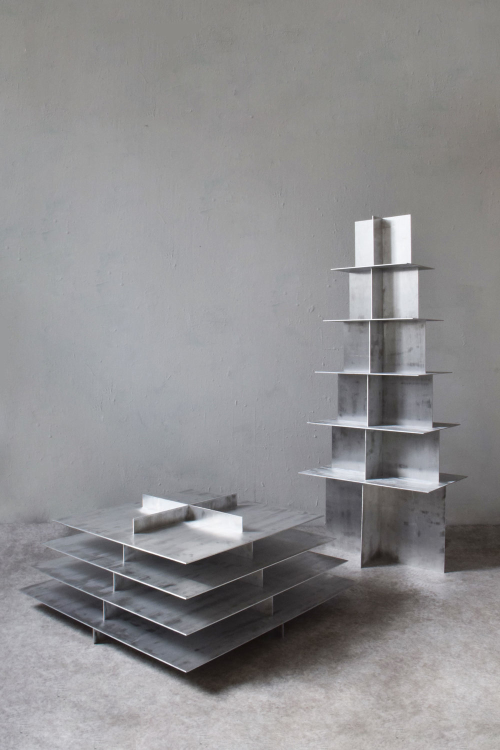 Fat Pyramid and Regular Pyramid, Collaboration with  Bram Vanderbeke  - Photos by Core Studio
