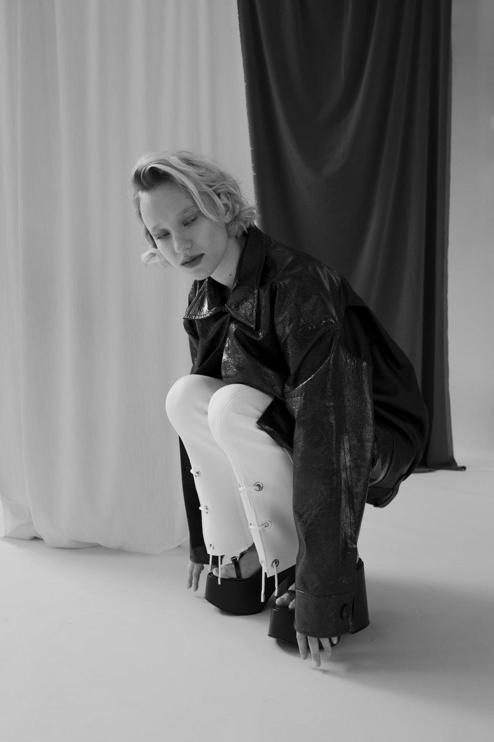 Jacket - Litkovskaya, Pants - Marine Henrion, Shoes - Jour/ne.