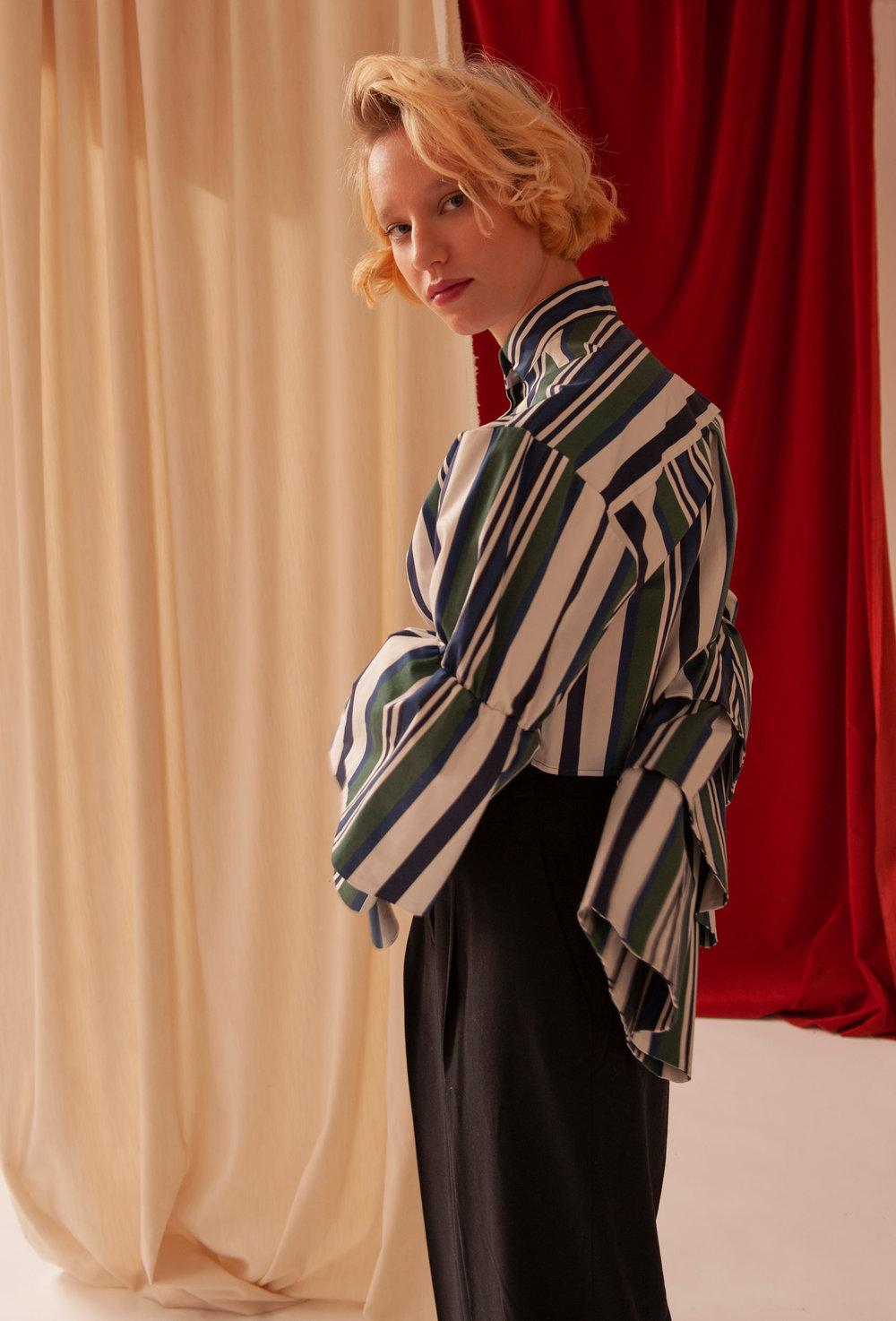 Jacket - Rouge Margaux, Pants - Cos.