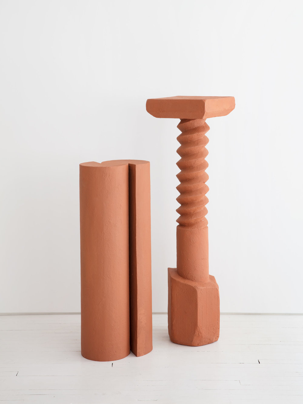 The Wallpaper* Design Award 2019 - terracotta/cast iron pedestal. Photographed at Egg collective (NYC) by Hannah Whitaker.