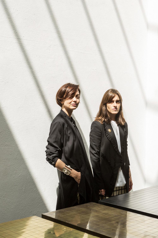 Keti Toloraia (left) and Nata Janberidze (right). Photo by Mattia Iotti.