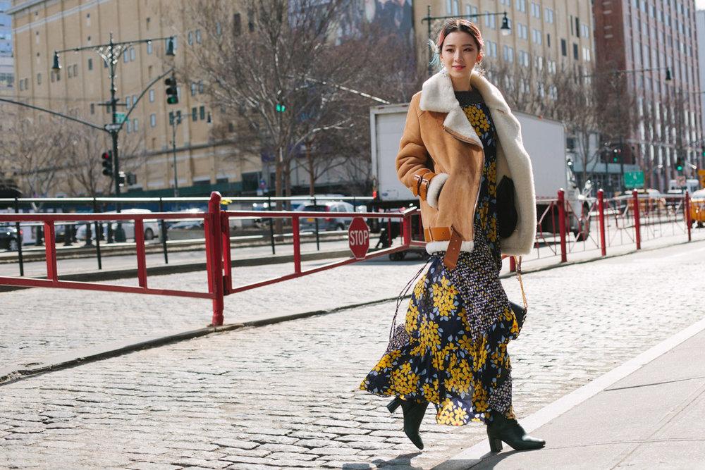 NYFW street style  for WWD