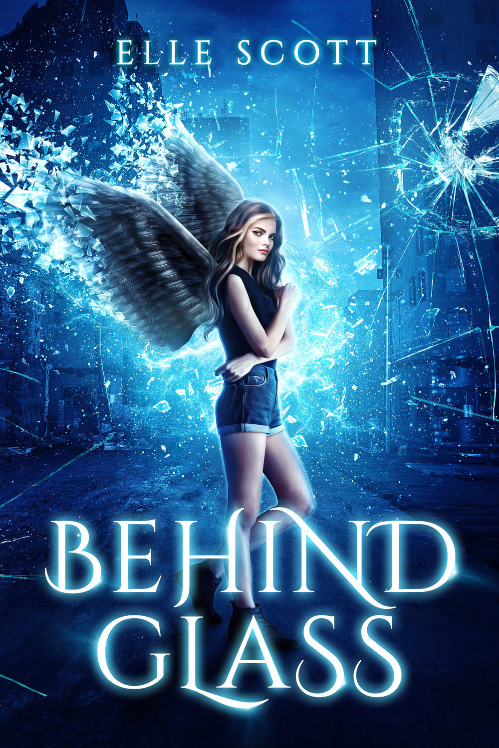 BEHIND GLASS   Elle Scott    A Nephilim with no memory of her past discovers she has telekinetic powers.  When she accidentally uses her new ability in public she becomes the number one target for demons who hunt angels for their grace.