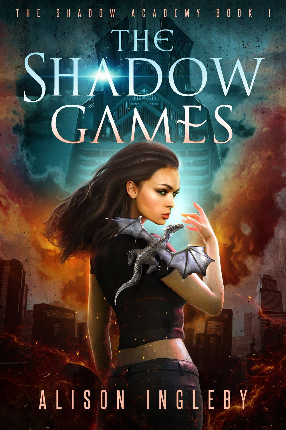 THE SHADOW GAMES   Alison Ingleby   Eighteen-year-old Vesper's dreams of attending the Royal Academy are shattered when she's branded a criminal and dumped on the city floor to die.  In the shadow city, factions war and monsters roam the streets. But Vesper's biggest fear is the power she wields—a power she can't control.