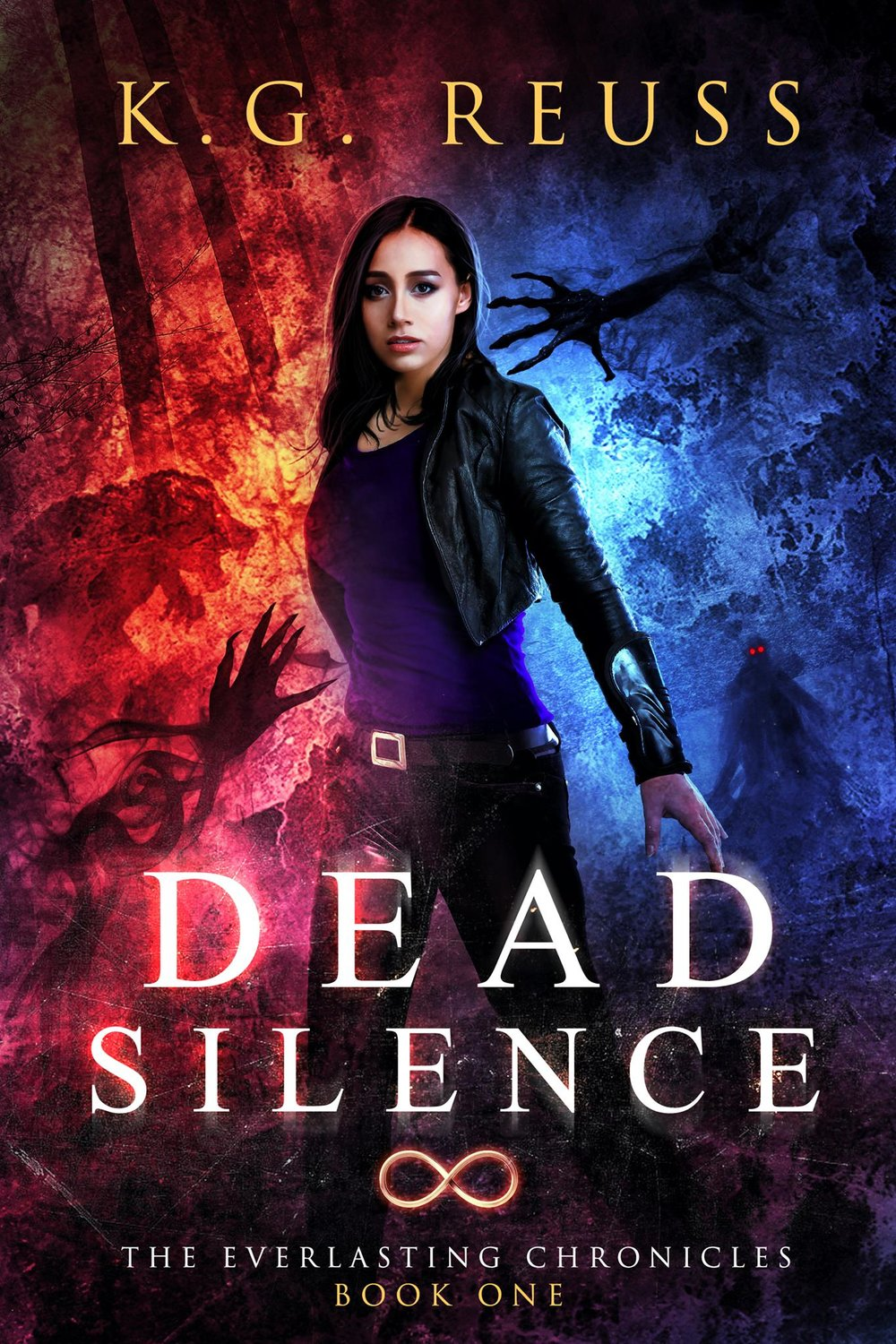 DEAD SILENCE   K.G. Reuss    A girl who can see the dead.  A shadowman who protects her.  A destiny neither can escape.