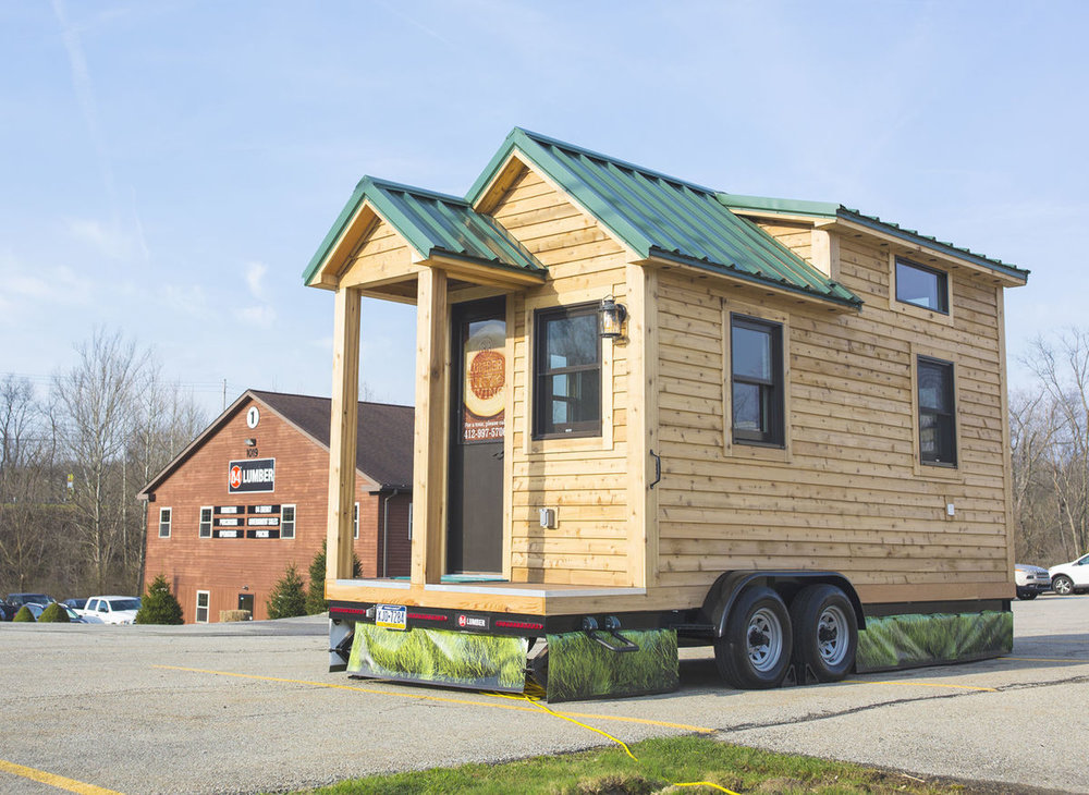 This is almost identical to the model tiny house that Kahler Homes is so graciously building for us.