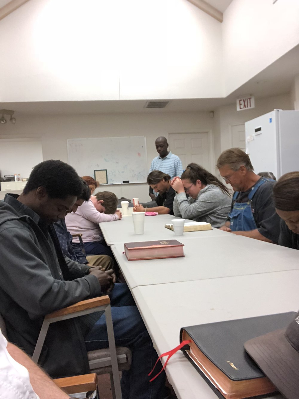 Bible Study with our homeless friends. Wednesdays at noon @ The Baptist Crisis Center