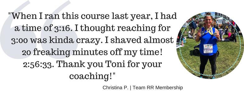 christina athlete quote