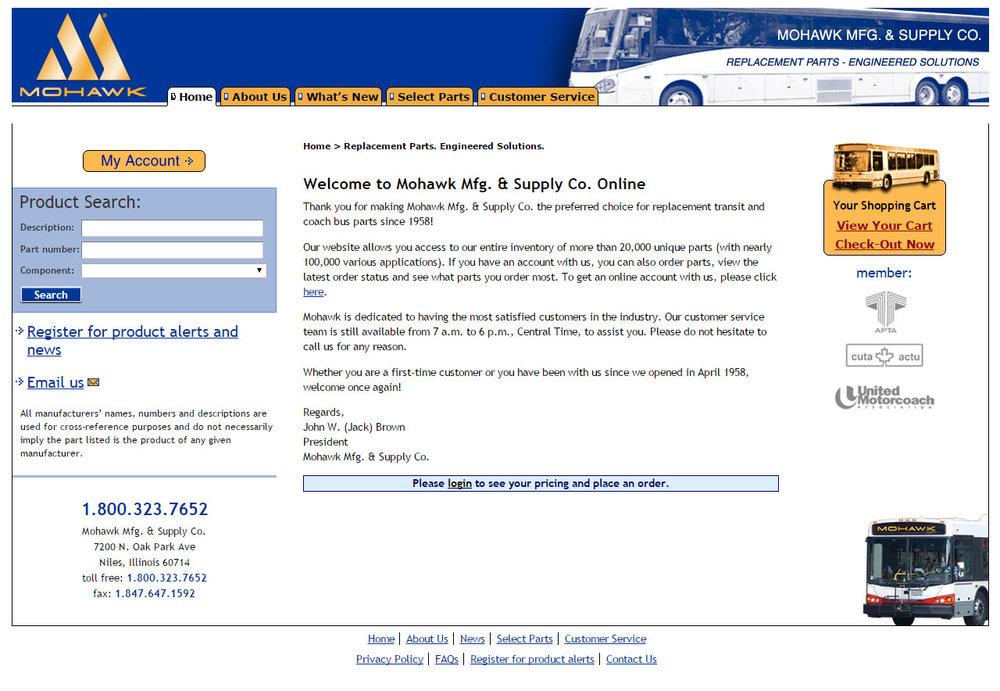 Original Mohawk Homepage