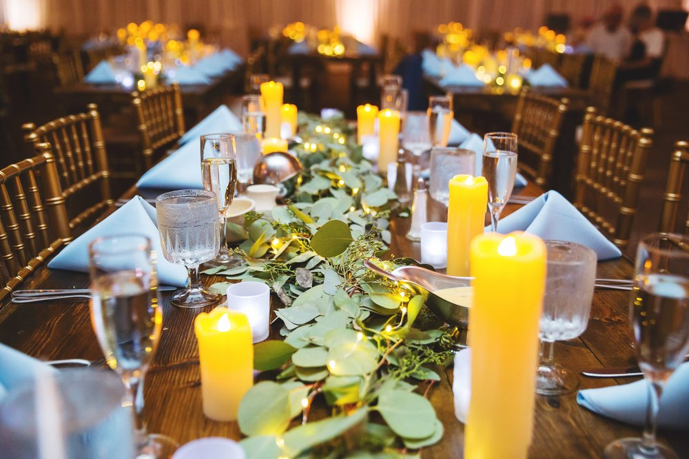 Harvest Tables from Palace Events Bloomington, Illinois Summer Wedding J.Blu Design Central Illinois Wedding Florist