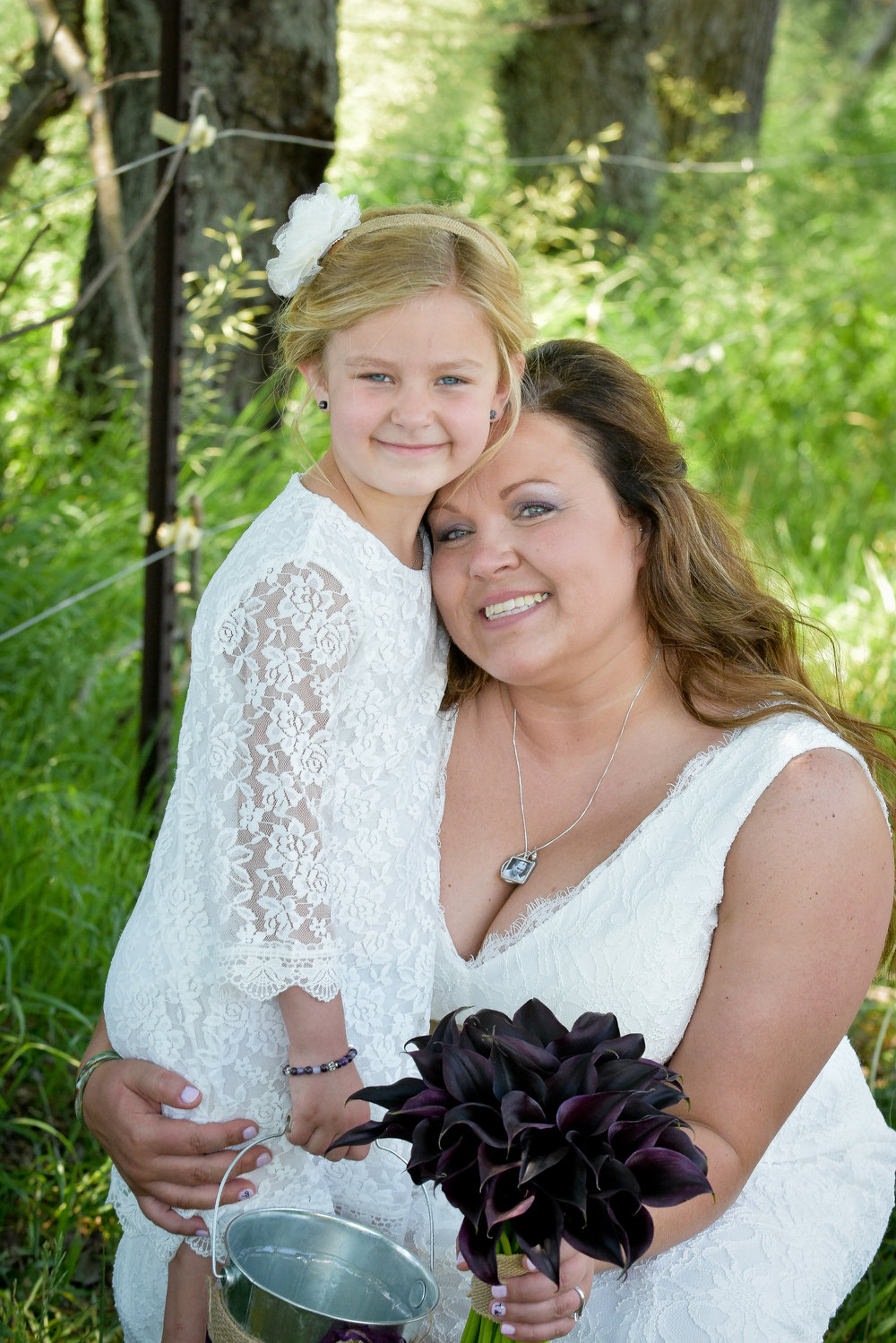 Knoxville Illinois Backyard Wedding Flower Girl