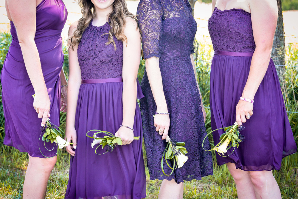 Central Illinois Backyard Summer Wedding Bridesmaids