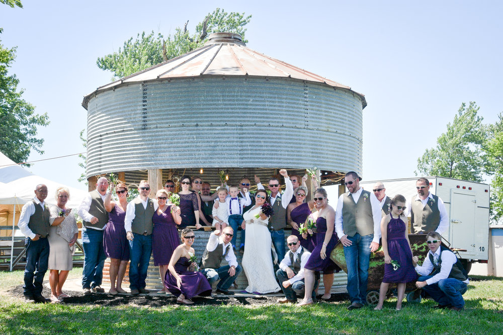 Knoxville Illinois Summer Backyard Wedding Grain Bin Bar