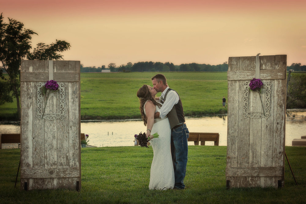Central Illinois Backyard Summer Wedding