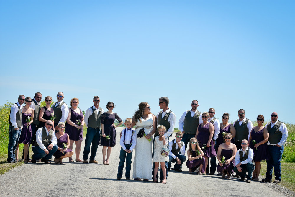 Central Illinois Country Roads Wedding Party