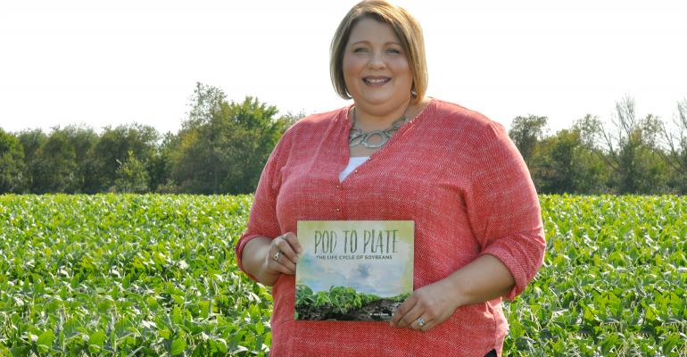 A photo from an article in Prairie Farmer magazine about the soybean book I wrote.