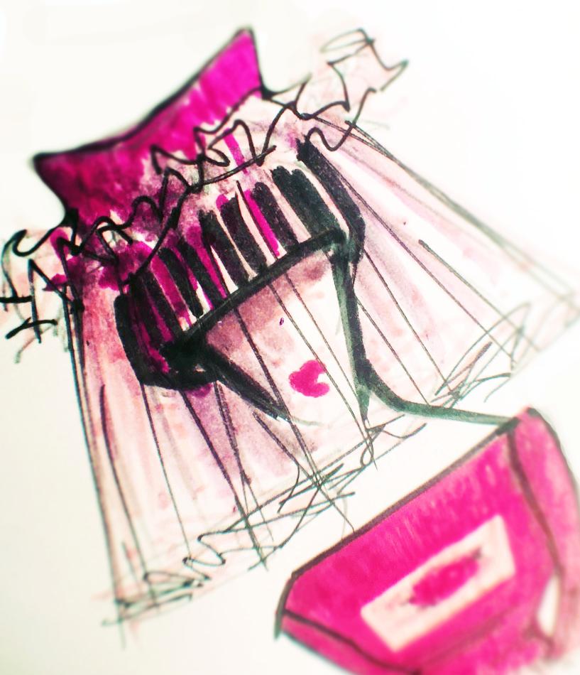 My Sketch for an Indie-Wedding veil...
