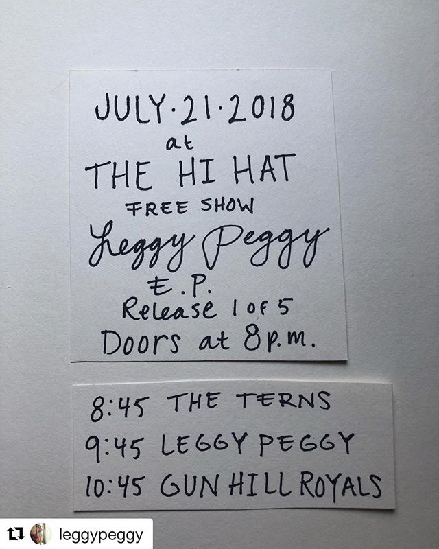 Hey friends! We're really excited to be a part of this one. This Saturday at @thehihatla @leggypeggy is having the first of her 5 EP release shows!! It's free so get ur buts down there!!!! Good music guaranteed!