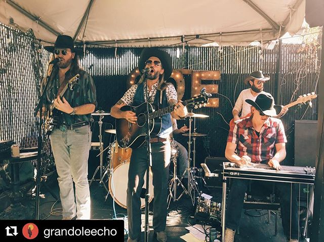 #Repost @grandoleecho with @get_repost ・・・ We've got @gunhillroyals out here on the back porch of @theechola on this beautiful summer day starting the party! Come hang!