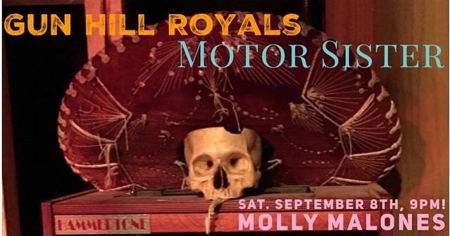 We're headed out to @mollymalonesla tonight to open for @motorsisterband with a short sweet rippin set of music at 9:00. We'll see you all there!