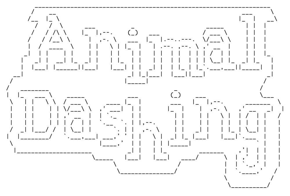 Even created the ASCII logo for the code. I dedicated a whole morning (after my work was done of course) to complete it. Now our fun project name will live on with the product forever!
