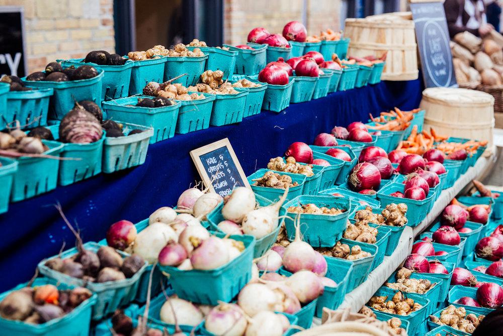 Location: The Wychwood Barns Farmers' Market in Toronto, Canada