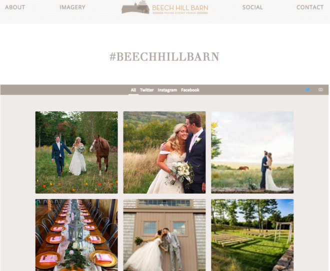 user generated content for wedding venues