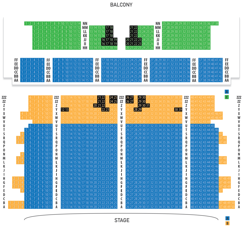Click seating diagram to enlarge