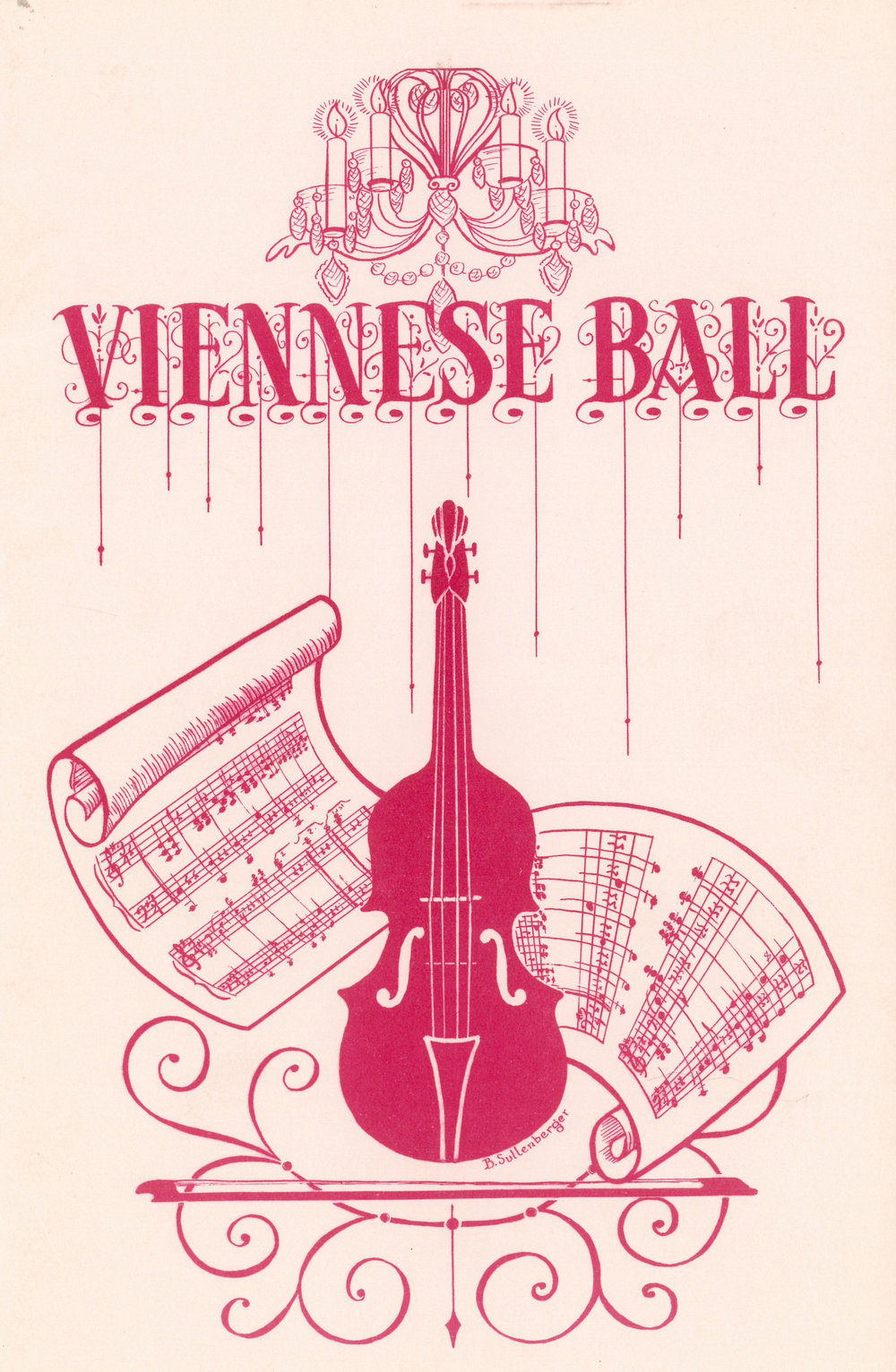 Viennese Ball program. Courtesy DSO archives.