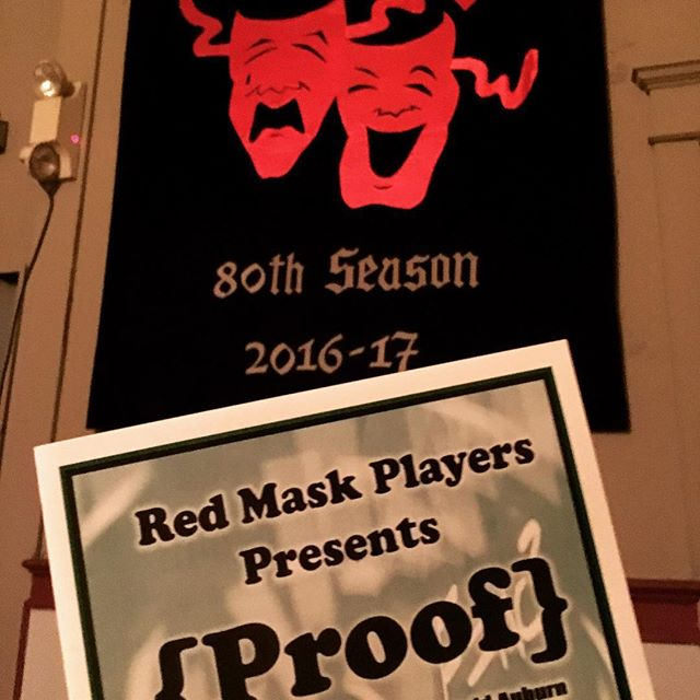 BRAVO! @redmaskplayers for opening night of #PROOF 🎭 🌠 👏#danville #redmaskplayers @downtowndanville