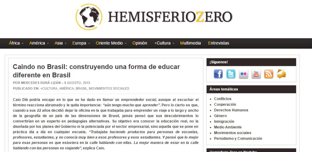 Caindo no Brasil: construyendo una forma de educar diferente en Brasil - Hemisferio Zero