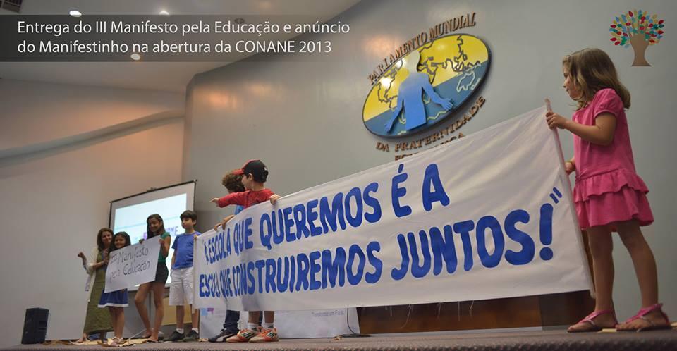 Conferência Nacional para Novas Alternativas na Educação (CONANE) Como um evento nacional reúne educadores de todo o Brasil para debater sobre alternativas educacionais no Brasil, a partir do depoimento de Sonia Goulart, uma de suas criadoras