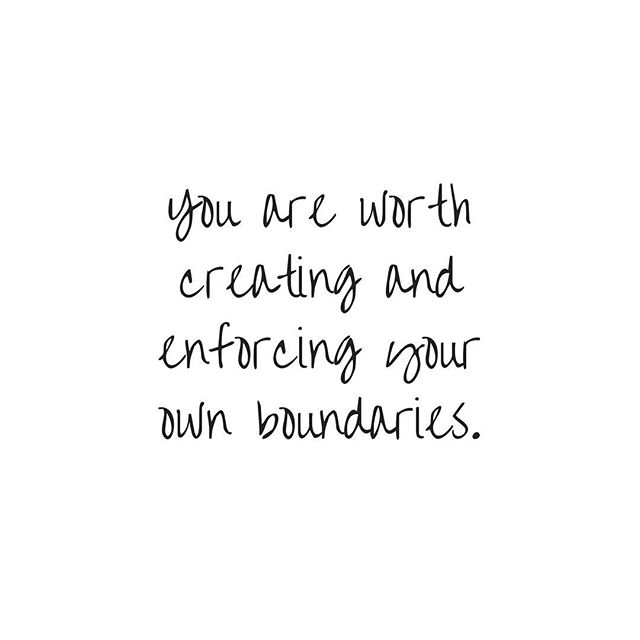 "Visual description: white background with black handwriting that says, ""you are worth creating and enforcing your own boundaries."" . . . . . . . #therapy #counseling #counselor #magicisreal #sisepuede #selflove #goals  #resolution  #loveyourself #imworthit #youreworthit #healthylifestyle #lovequotes #encouragement #beyou #beyourself #selfloveisthebestlove #boringselfcare #selflovery #lovely #worthit #selfcare #mentalhealthawareness #mentalhealth #psychology #therapyforthesoul #iloveme"