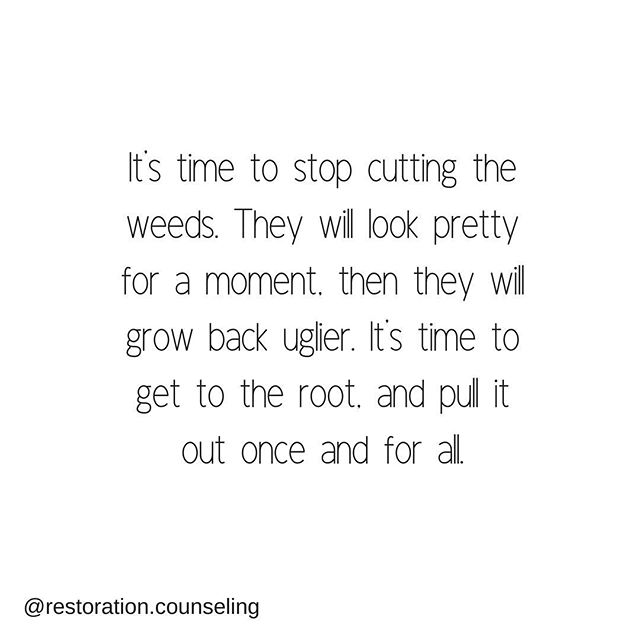 We can keep coping with our symptoms of anxiety, stress, depression, etc. We can address the symptoms as they come, and struggle to feel better. Or we can get to the root of them, pull them out for good.