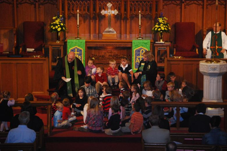 Children's Time during Sunday Worship
