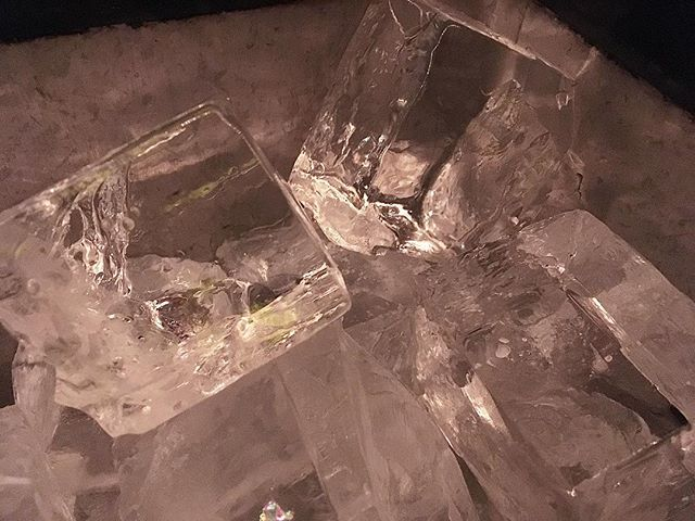 Now at @cure_bar — GLUTEN FREE ICE — courtesy of @cristallinopremiumice