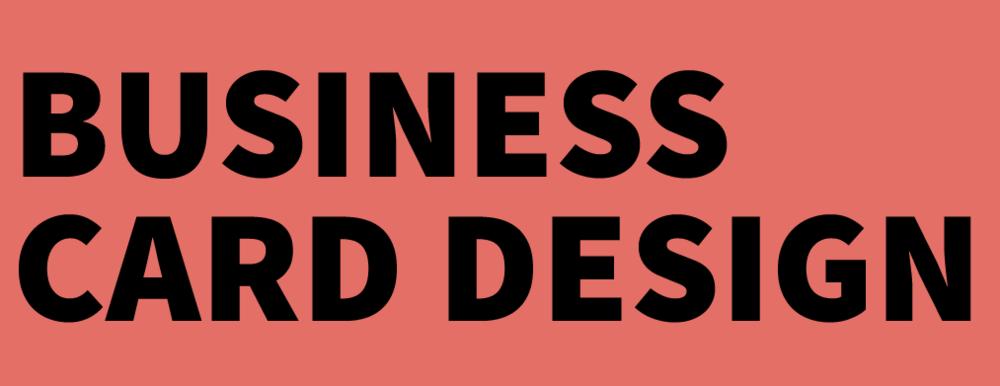Graphic Design Townsville - Business Card Design