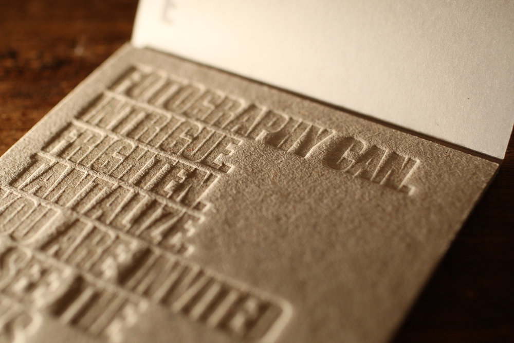 PROJECT: 52MM LETTERPRESS INVITE CLIENT: MIKE MAPLE ROLE: DESIGNER, ART DIRECTOR, COPYWRITER