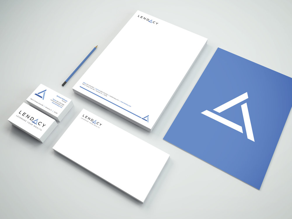 PROJECT: LENDACY IDENTITY SUITE AND BRANDING CLIENT: LENDACY ROLE: DESIGNER