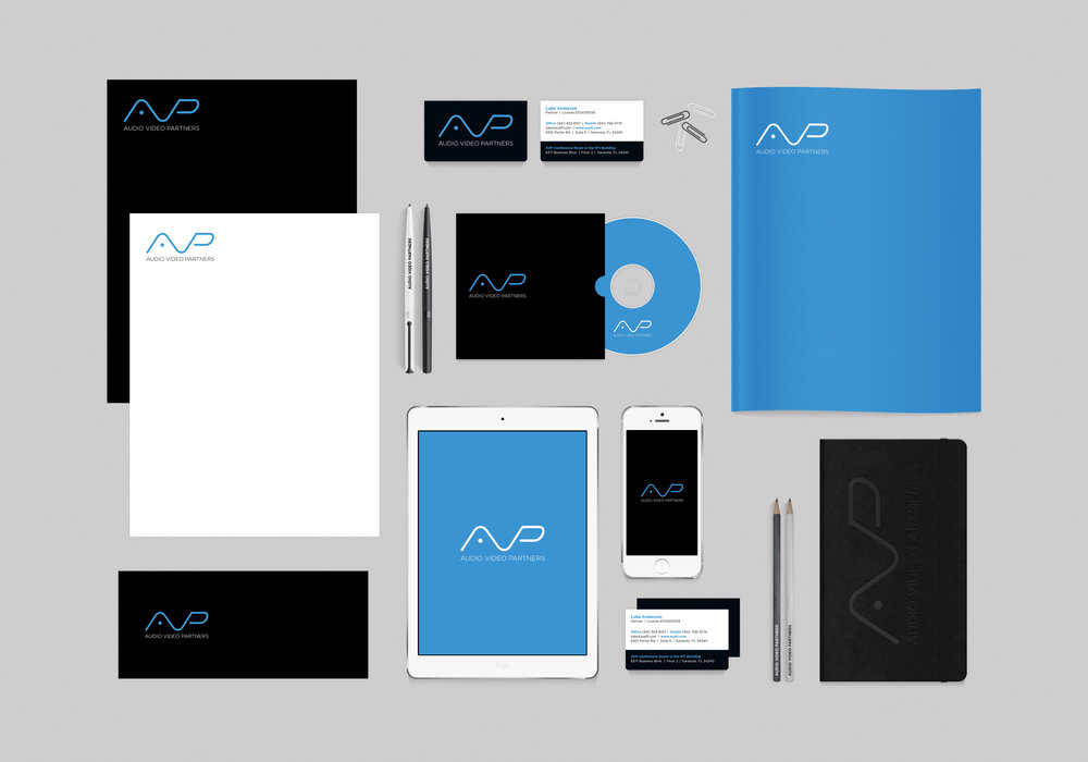 PROJECT: AUDIO VIDEO PARTNERS IDENTITY SUITE AND BRANDING CLIENT: AUDIO VIDEO PARTNERS ROLE: DESIGNER