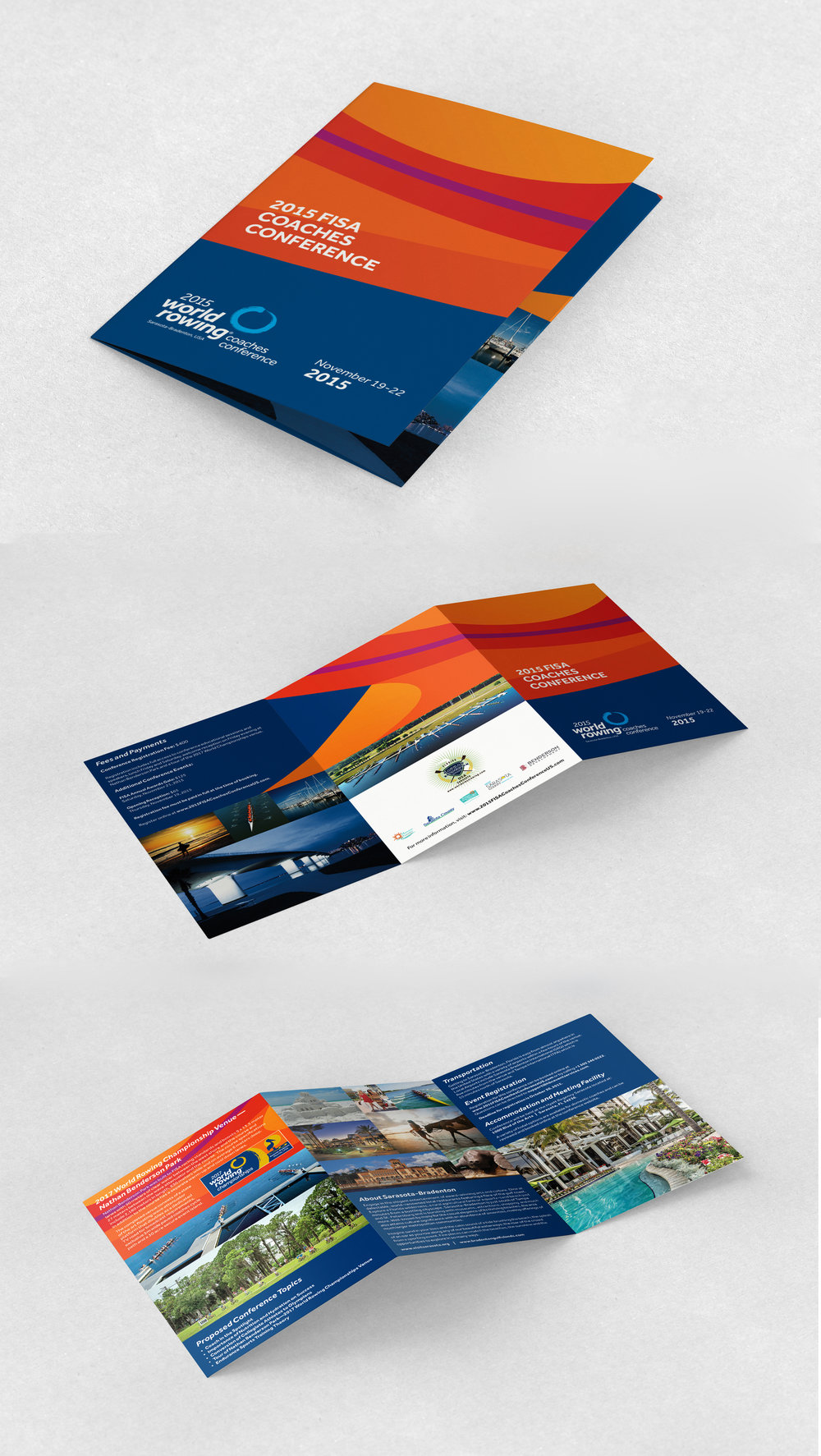 PROJECT: 2015 FISA COACHES CONFERENCE BROCHURE CLIENT: SANCA/NBP AND WORLD ROWING CHAMPIONSHIPS ROLE: DESIGNER, ART DIRECTOR