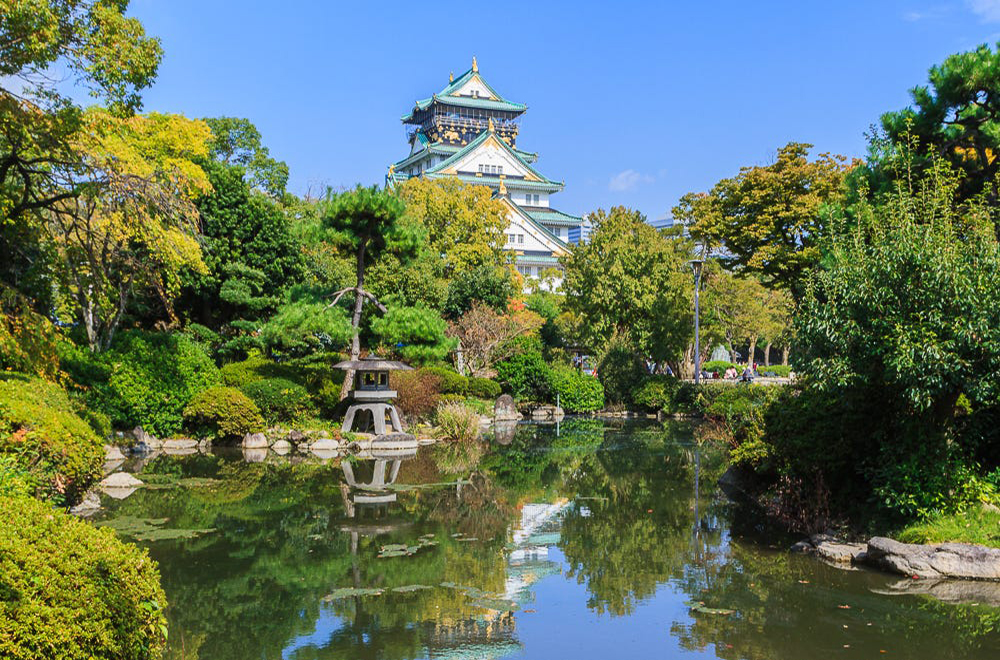I recently visited Japan and spent a few days in Osaka and visited the amazing Osaka Castle. I spent the day walking around the grounds taking in all its beauty. Even though this photo looks incredibly peaceful and tranquil, it was actually teeming with life with people from all walks of life. I spent around 30 minutes trying to find the perfect time between crowds to get this shot.