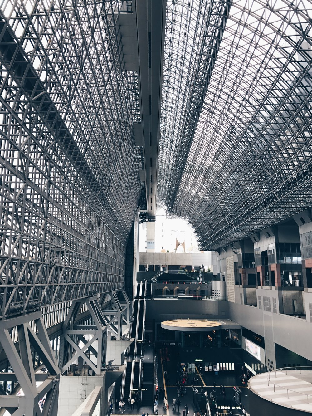Kyoto station is fire aye ef.